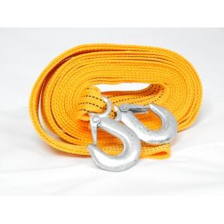 Трос буксировочный тканая лента 6м 3,5т с крюками Forsage