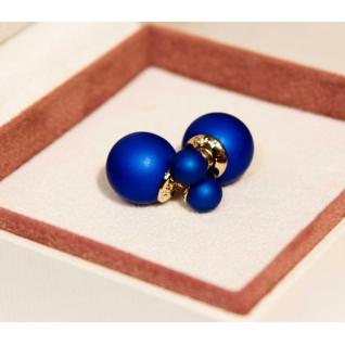 Серьги шарики Mise en Dior, синие