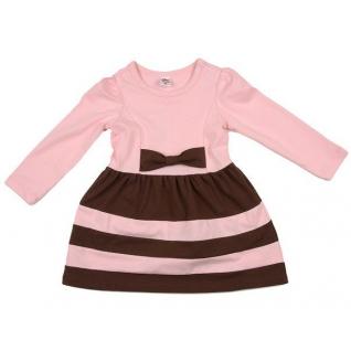 Платье с дл.рукавом, цв. розовый\шоколад