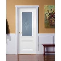Дверное полотно МариаМ Классик-2 остекленное (ст. Контурный полимер) 550- 900 мм