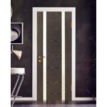 Дверное полотно МариаМ Диалог ПУ лак остекленное 600-900 мм Черный абрикос