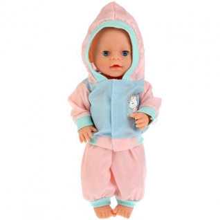 Одежда для кукол 'Карапуз' 40-42см, спортивный костюм 'единорог' в пак. в кор.100шт