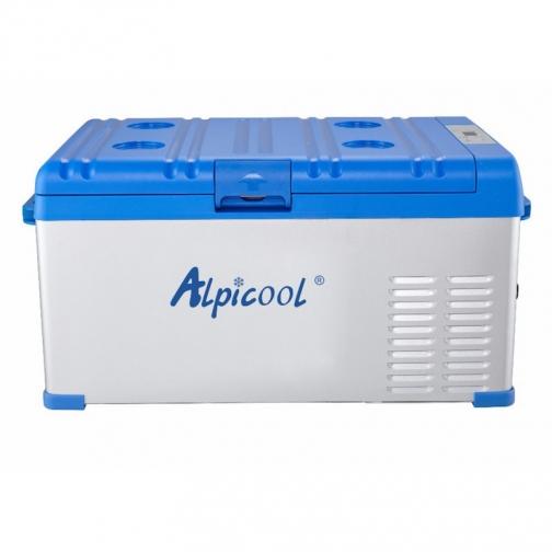 Kомпрессорный автохолодильник ALPICOOL ABS-25 синий (30л, 12/24/220В) 36971684 5