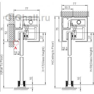 Автоматическая система для откатной двери L- 2000 мм