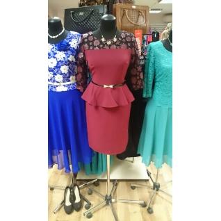 Платье с баской 46 размер