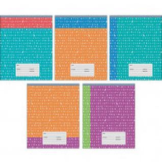 Тетрадь школьная А5,12л,линия Двухцветная (орнамент) ТЛ125581 5 видов