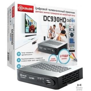 D-Color Ресивер DVB-T2 D-Color DC930HD черный