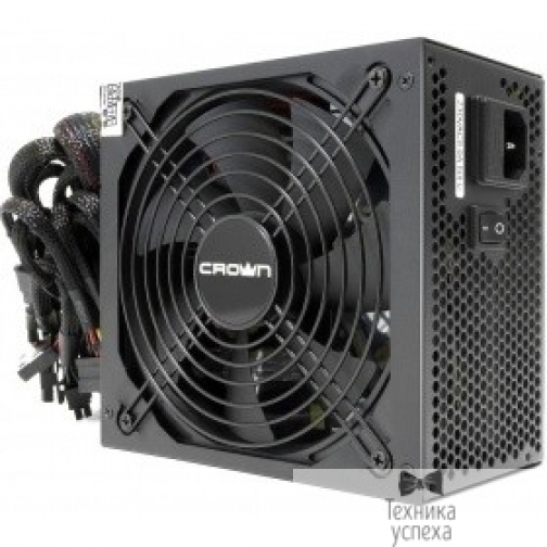 Crown CROWN Блок питания CM-PS750W PRO (ATX, 750W, 80Plus BRONZE, APFC 20+4in 500mm, 140mm FAN, SATA*7, PATA*7,FDD*1, 4+4pin, 6+2pin PCI-E*2, картонная упаковка) 36977834