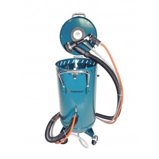 Передвижной пескоструйный аппарат инжекторного типа с электродвигателем для ваккума 220В(бак 75л,170 Forsage
