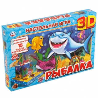 "Настольная 3d Игра ""Умка"" Рыбалка"