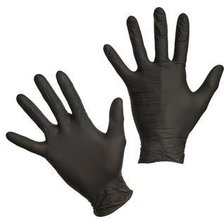 Мед.смотров. перчатки нитрил., н/с, н/о, Benovy (М) 50 пар,черные