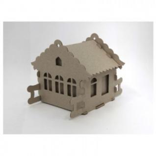Набор для творчества сборный картонный домик для раскрашивания, Избушка