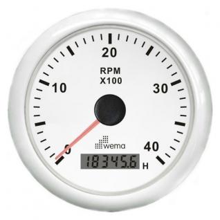 Wema Аналоговый индикатор тахометра белый Wema IMHB-WW-4KL 0 - 4000 об/мин 12/24 В