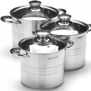 Набор посуды MAYER&BOCH 3 кастрлюли с крышк. 5,3+6,8+8,6 л 27556