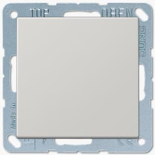 Выключатель Jung LS серия (501U-LS990LG) одноклавишный 10А светло-серый пластик