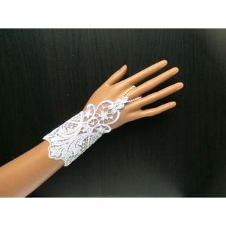Перчатки свадебные №159, белый (15 см)