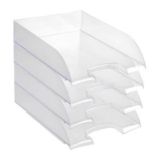 Лоток для бумаг ATTACHE, прозрачный 4шт/упаковке