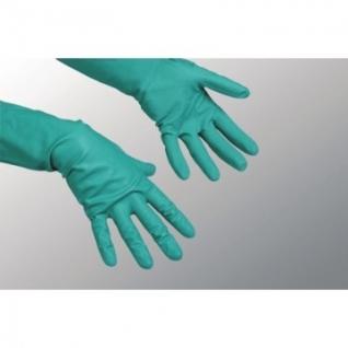 Перчатки резиновые Vileda Profes нитрил хлопков.напыл зеленый р-р M 100801