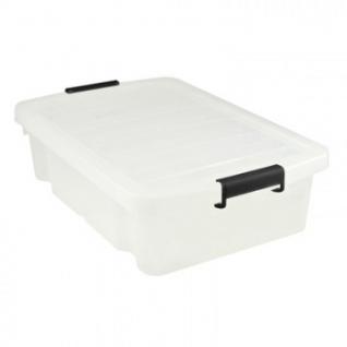 Ящик для хранения штабелируемый пластик 30 л, с крышкой