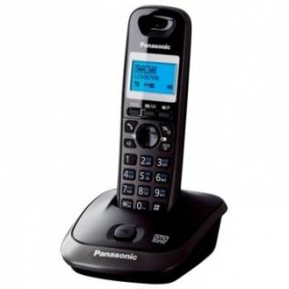 Радиотелефон Panasonic KX-TG2521RUT тёмно-сер.металлик,АОН,а/о 20 мин.