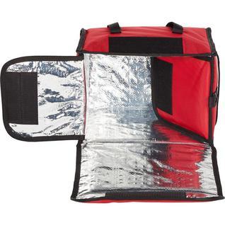 Термосумка для обедов ткань красная 35х25х25 (22л)