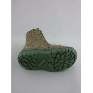 16507* Валенки ясли сер войлок мех зеленые 22-25 (22) Фома