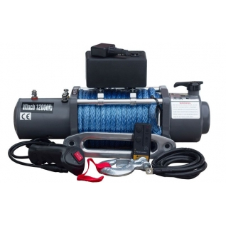 Лебедка электрическая ATV Electric Winch 12v 12000 LBS (кевларовый трос)