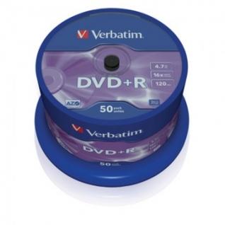 Носители информации Verbatim DVD+R 4,7Gb 16х Cake/50 43550