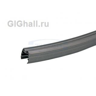 T-105-6 Уплотнитель для стекла 16мм для поручня 50х50 (длина 3000м)