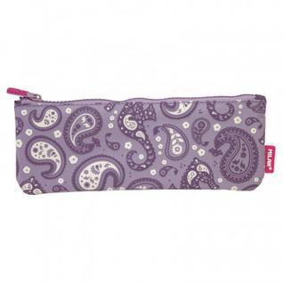 Пенал косметичка Milan Drops фиолетовый 23x9x1,5 см, 081118DP