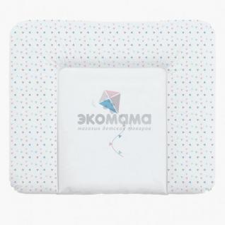 Пеленальный матрац 70x85 см Ceba Baby мягкий на комод - W-134-070-023 Kite Blue/Pink