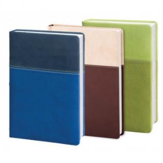 Ежедневник недат, синий, тв пер, 140х200, 160л, Patchwork AZ353/blue