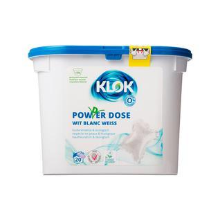 Капсулы для стирки белых тканей Klok экологичные 20 шт
