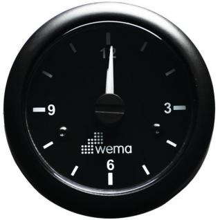 Wema Кварцевые часы чёрные Wema IMCR-BB 12/24 В 52 мм
