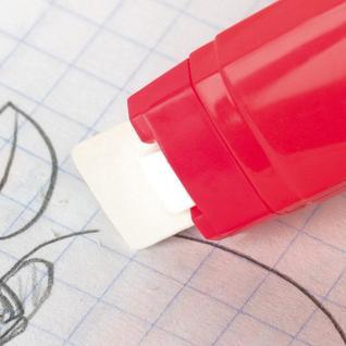 Ластик с механич.держ-лем Milan TRIJET + 2 зап.ластика, цвет в асс, блистер