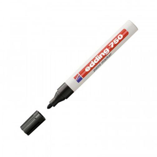 Маркер пеинт (лак) EDDING E-750/1 черный 2-4мм рус/бл. 37873484 3