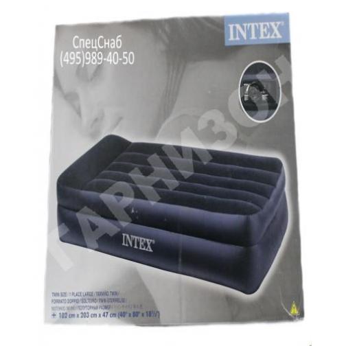 Односпальная надувная кровать Intex (встроенный электронасос) 11380