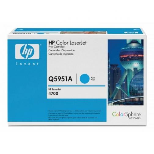 Оригинальный картридж HP Q5951A для HP CLJ 4700 (голубой, 10000 стр.) 891-01 Hewlett-Packard 852420 1