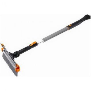 Щетка-скребок автомобильная для снега скребк+водосгон,телеск.STELS(55299)