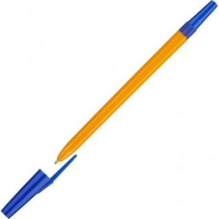 Ручка шариковая Школьник, цвет чернил синий 1 мм, оранжевый корпус
