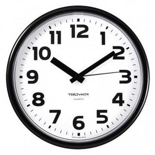 Часы настенные Troyka модель09, диаметр 225мм, пластик 91900945