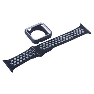 Ремешок спортивный COTEetCI W32 Sports Band Suit (WH5255-BK+WH-42) для Apple Watch 42мм Черно-Белый