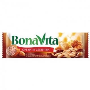 Батончик ореховый Bona Vita с семечками, орехами и медом 35 гр
