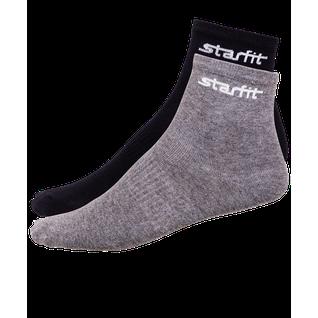 Носки средние Starfit Sw-206, серый меланж/черный, 2 пары размер 43-46