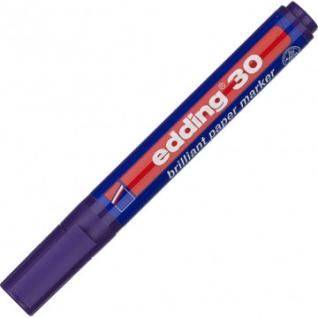 Маркер пигментный EDDING E-30/008 фиолетовый 1,5-3 мм круг. наконечник