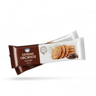 Печенье овсяное Полет с кусочками шоколада, 300г