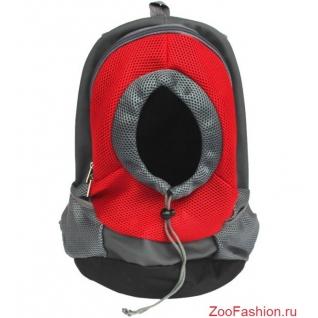 """Рюкзак переноска для собак """"Спорт"""" красный (35см)"""