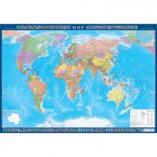 Настенная карта Мир политическая 1:22млн.,1,57х1,05м.