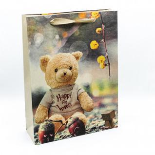 Пакет подарочный Крафт Мишки 27,5х37х10см арт.000211C