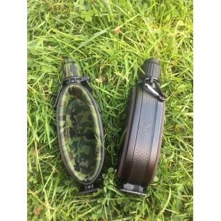 Фляга для воды силиконовая складная 580 мл черная Hobbyxit